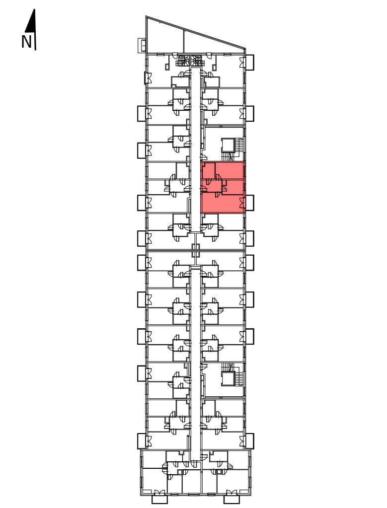 Uroczysko I / budynek 1 / klatka A / mieszkanie A/19/M2 rzut 2