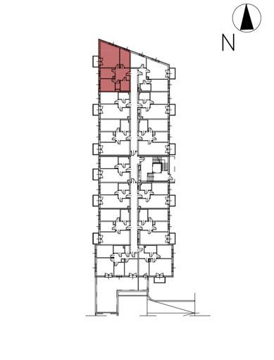 Uroczysko II / budynek 3 / klatka E / mieszkanie E/10/M3 rzut 2