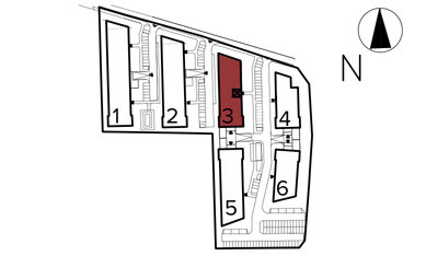Uroczysko II / budynek 3 / klatka E / mieszkanie E/28/M3 rzut 3