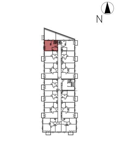 Uroczysko II / budynek 3 / klatka E / mieszkanie E/36/M3 rzut 2