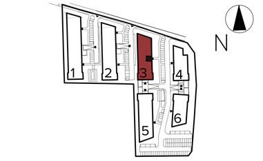 Uroczysko II / budynek 3 / klatka E / mieszkanie E/36/M3 rzut 3
