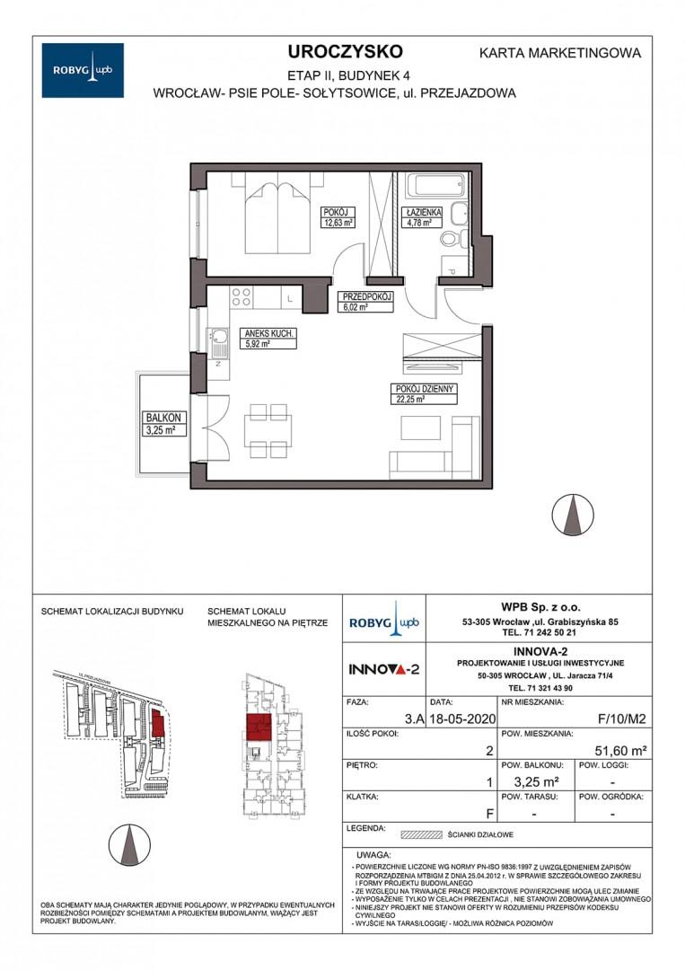 Uroczysko II / budynek 4 / klatka F / mieszkanie F/10/M2 rzut 1