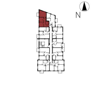 Uroczysko II / budynek 4 / klatka F / mieszkanie F/11/M3 rzut 2