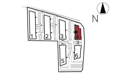 Uroczysko II / budynek 4 / klatka F / mieszkanie F/26/M3 rzut 3