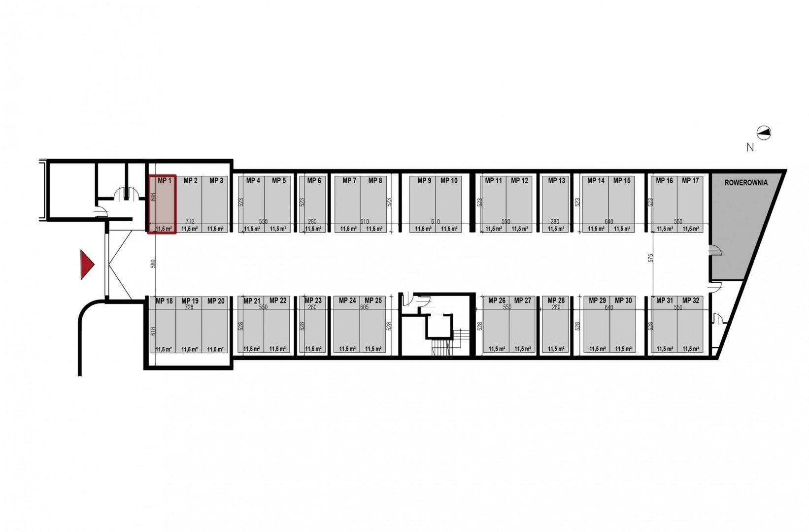 Uroczysko II / budynek 3 / miejsce postojowe 1 rzut 1