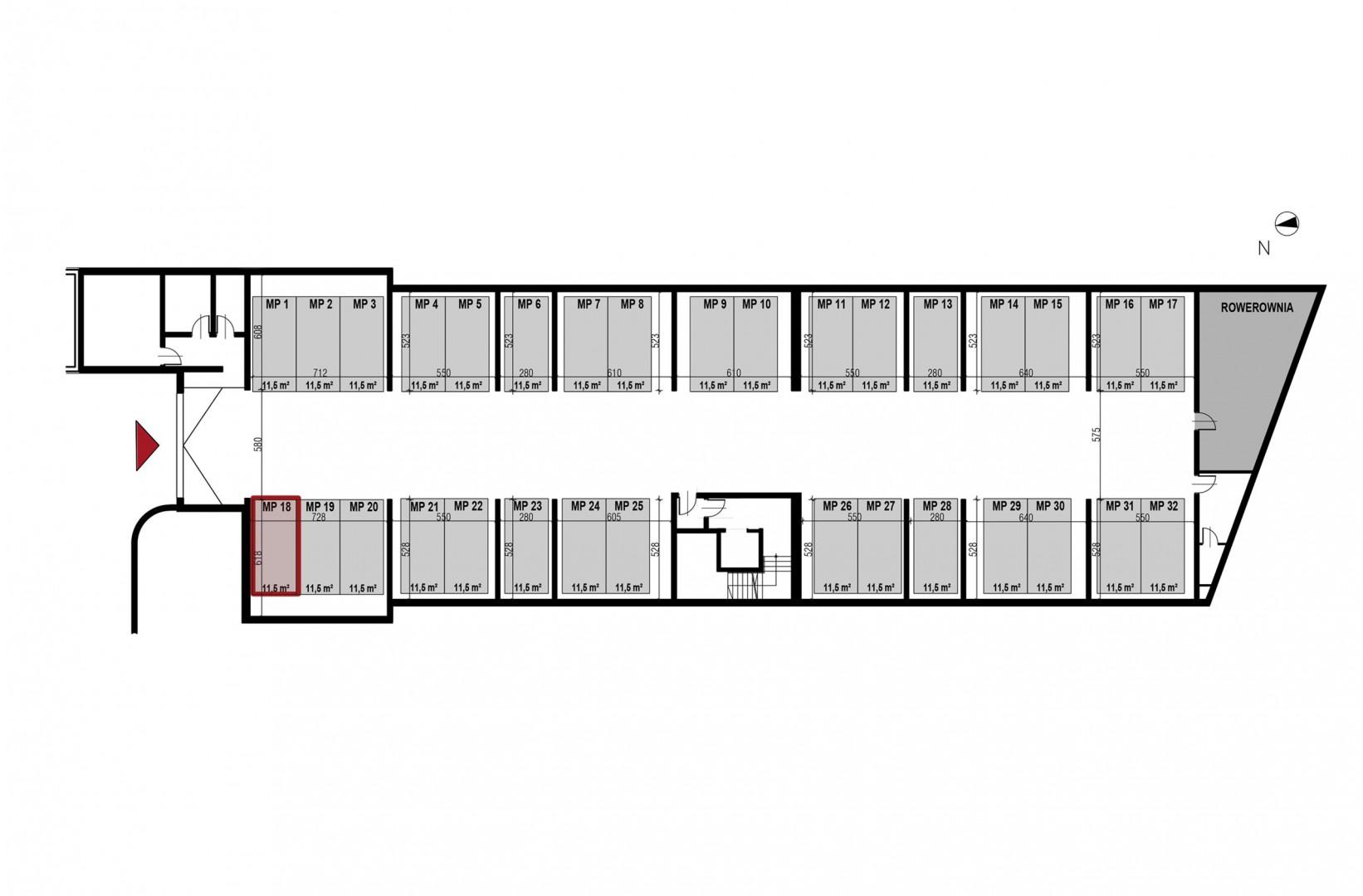 Uroczysko II / budynek 3 / miejsce postojowe 18 rzut 1