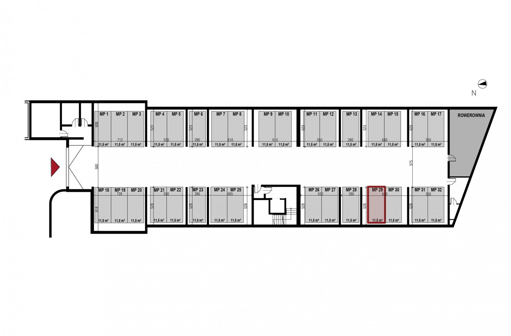 Uroczysko II / budynek 3 / miejsce postojowe 29 rzut 1