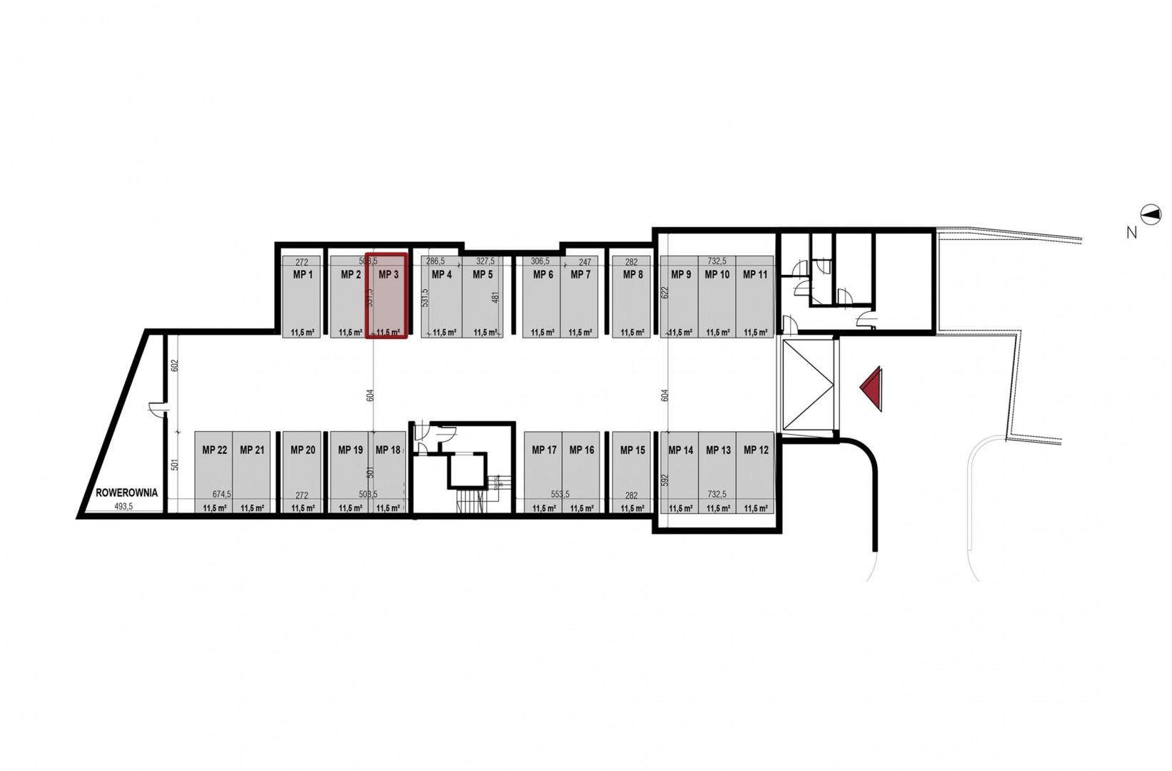 Uroczysko II / budynek 4 / miejsce postojowe 3 rzut 1