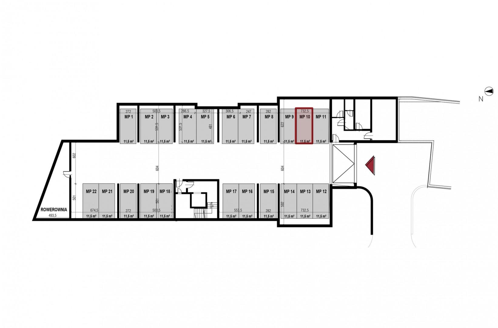Uroczysko II / budynek 4 / miejsce postojowe 10 rzut 1