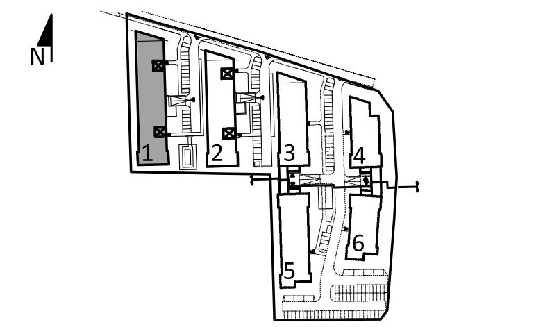 Uroczysko I / budynek 1 / klatka B / mieszkanie B/1/M2 rzut 3