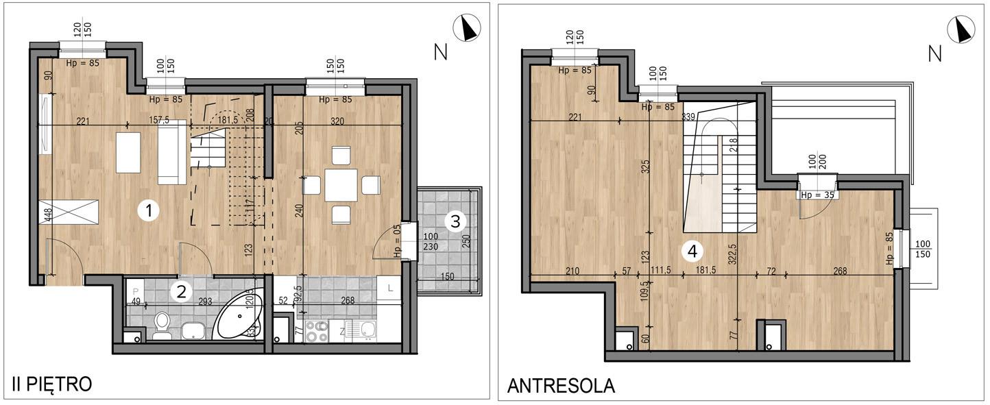 Willa nad Potokiem / budynek 1 / mieszkanie 9/M1 rzut 1