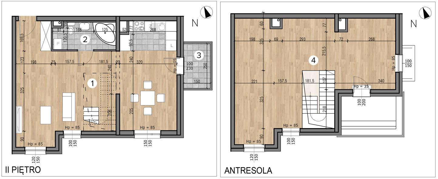 Willa nad Potokiem / budynek 1 / mieszkanie 10/M1 rzut 1