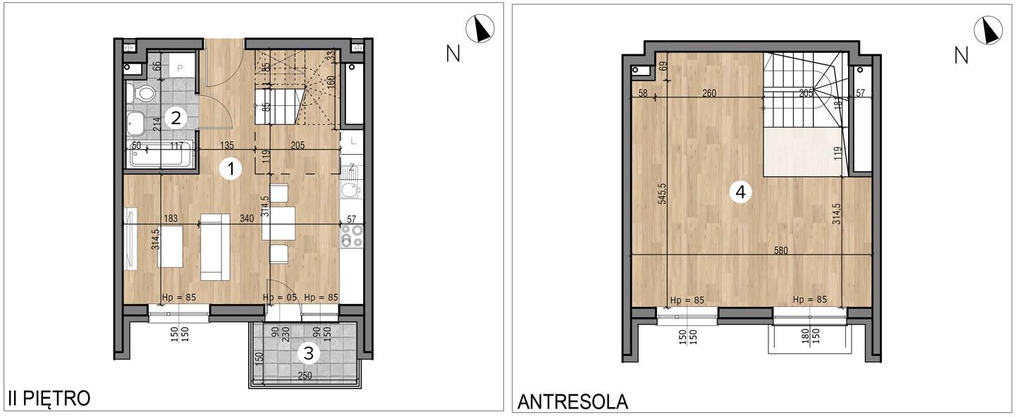 Willa nad Potokiem / budynek 1 / mieszkanie 11/M1 rzut 1