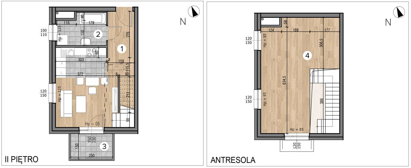 Willa nad Potokiem / budynek 1 / mieszkanie 12/M1 rzut 1
