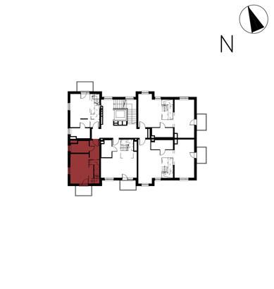 Willa nad Potokiem / budynek 1 / mieszkanie 12/M1 rzut 2