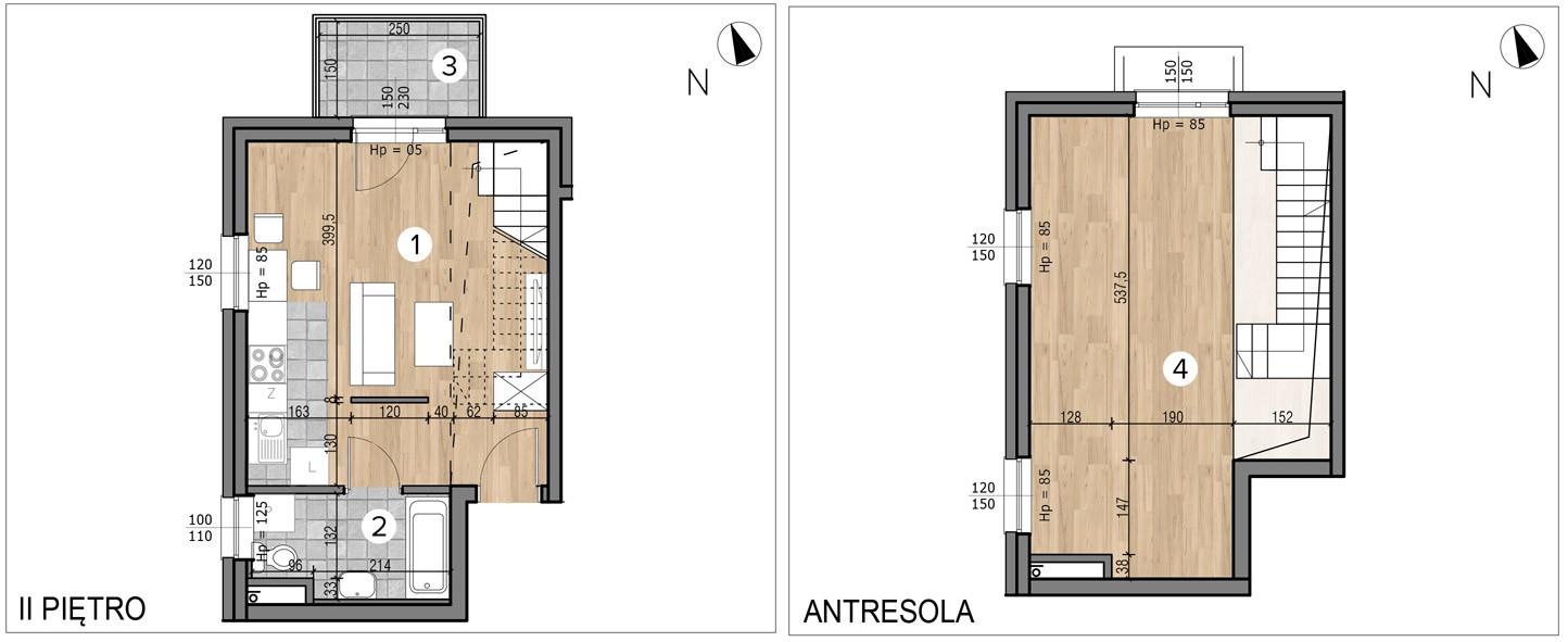 Willa nad Potokiem / budynek 1 / mieszkanie 13/M1 rzut 1
