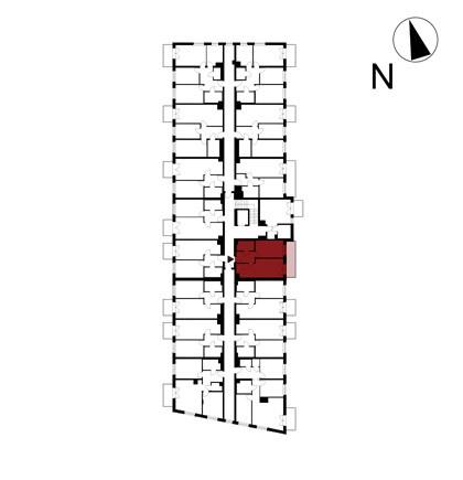 Wojszyckie Alejki / budynek 1 / mieszkanie 17/M2 rzut 2