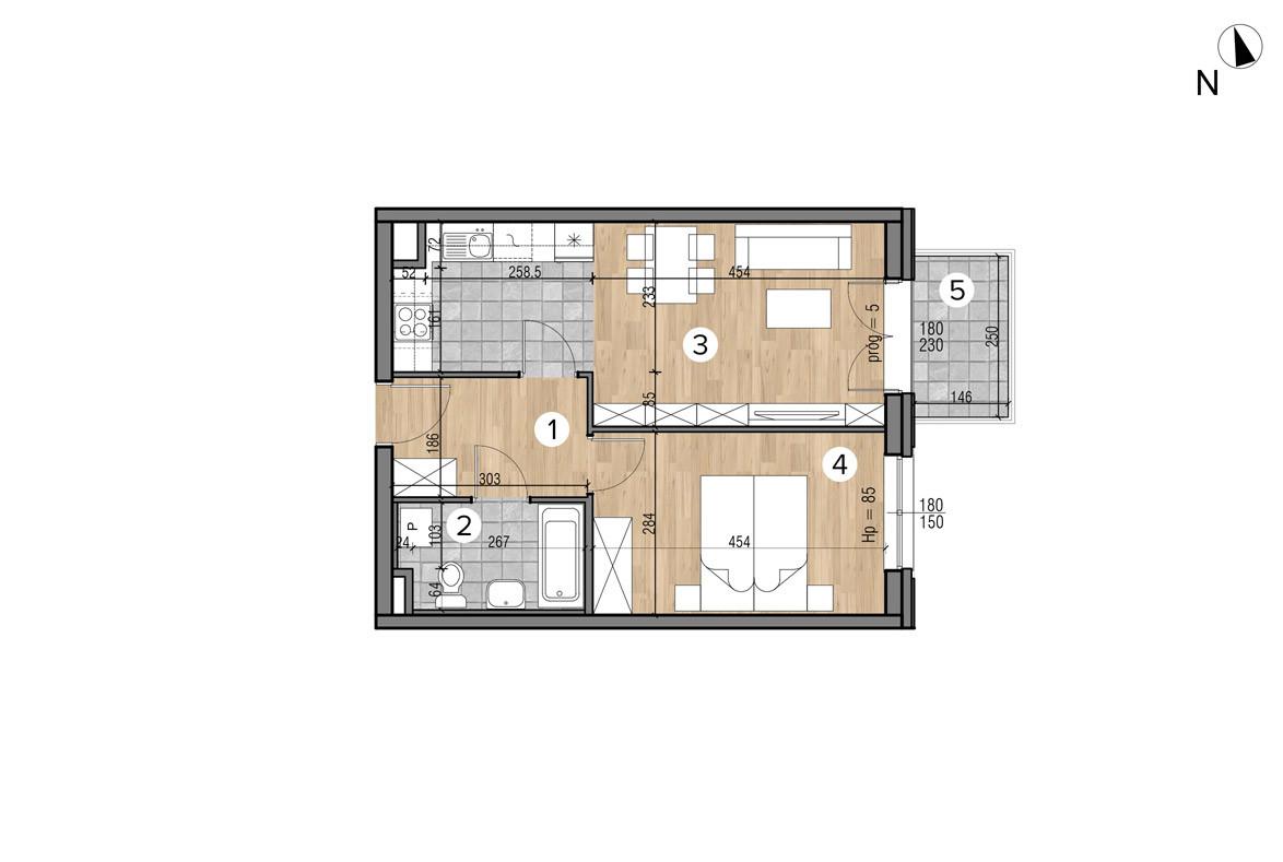 Wojszyckie Alejki / budynek 1 / mieszkanie 19/M2 rzut 1