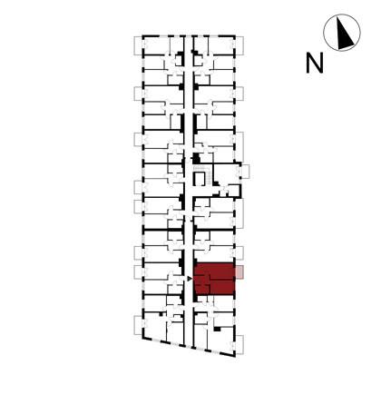 Wojszyckie Alejki / budynek 1 / mieszkanie 19/M2 rzut 2