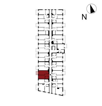 Wojszyckie Alejki / budynek 1 / mieszkanie 22/M2 rzut 2