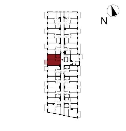 Wojszyckie Alejki / budynek 1 / mieszkanie 25/M2 rzut 2