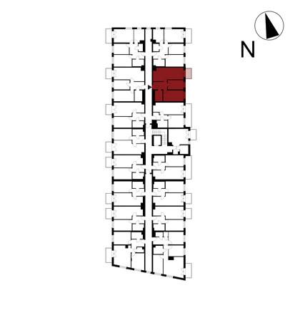 Wojszyckie Alejki / budynek 1 / mieszkanie 30/M3 rzut 2