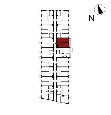 Wojszyckie Alejki / budynek 1 / mieszkanie 31/M2 rzut 2