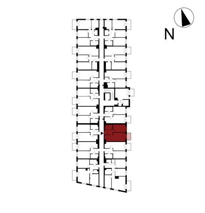 Wojszyckie Alejki / budynek 1 / mieszkanie 34/M2 rzut 2