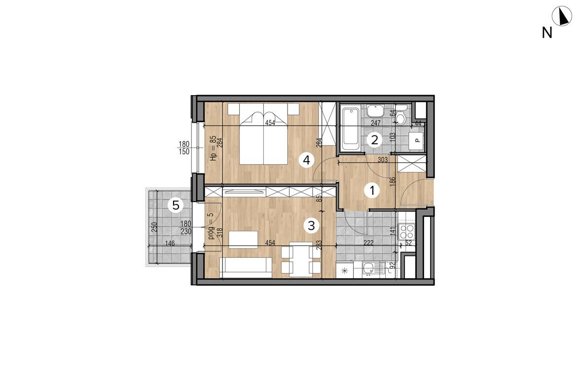 Wojszyckie Alejki / budynek 1 / mieszkanie 39/M2 rzut 1