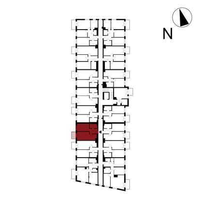 Wojszyckie Alejki / budynek 1 / mieszkanie 39/M2 rzut 2