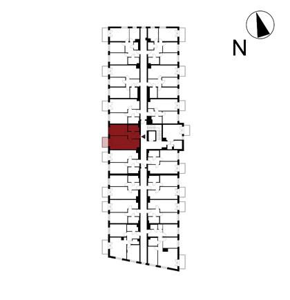 Wojszyckie Alejki / budynek 1 / mieszkanie 41/M2 rzut 2