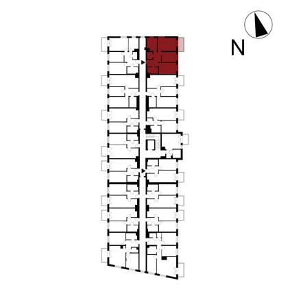 Wojszyckie Alejki / budynek 1 / mieszkanie 45/M3 rzut 2
