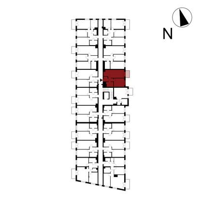 Wojszyckie Alejki / budynek 1 / mieszkanie 47/M2 rzut 2