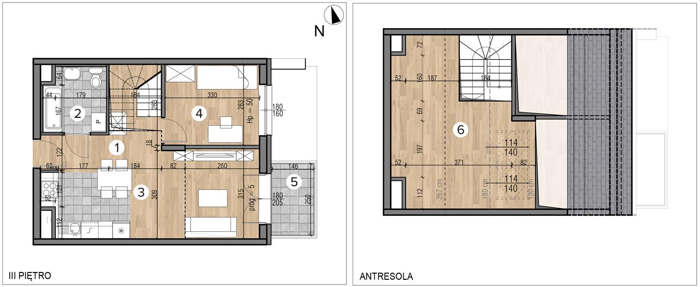 Wojszyckie Alejki / budynek 1 / mieszkanie 48/M2 rzut 1