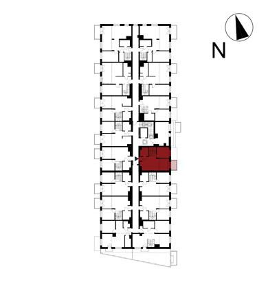 Wojszyckie Alejki / budynek 1 / mieszkanie 48/M2 rzut 2