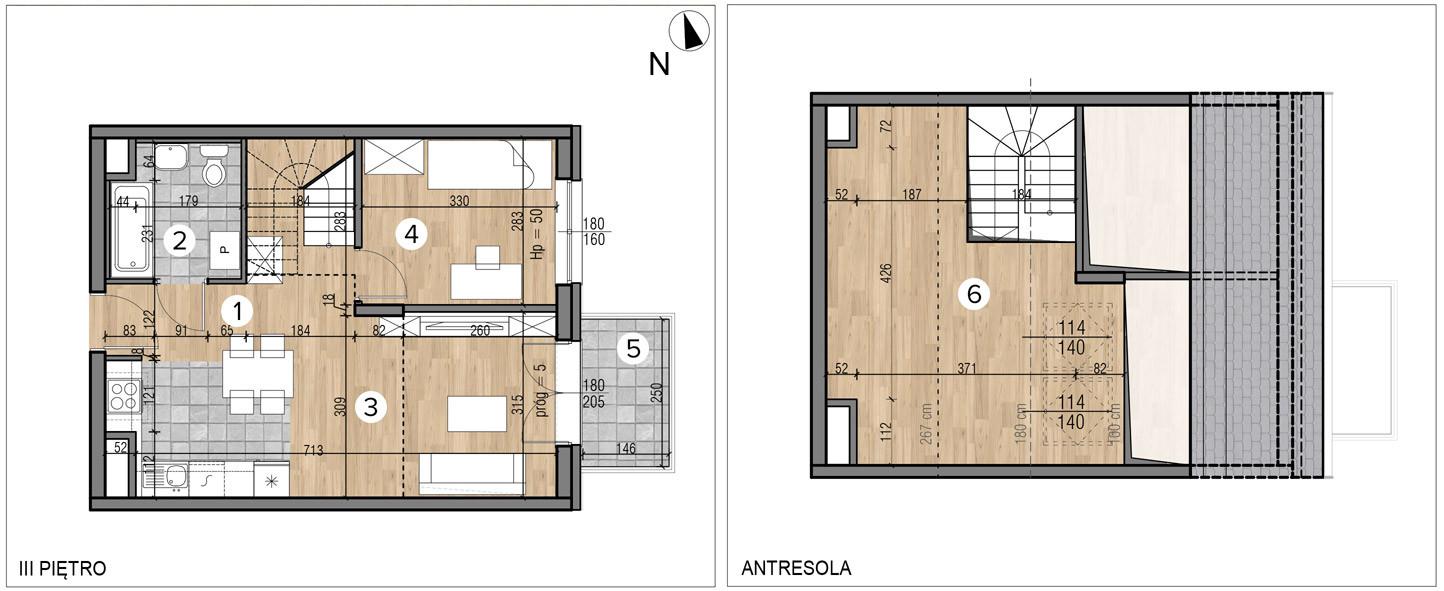 Wojszyckie Alejki / budynek 1 / mieszkanie 49/M2 rzut 1