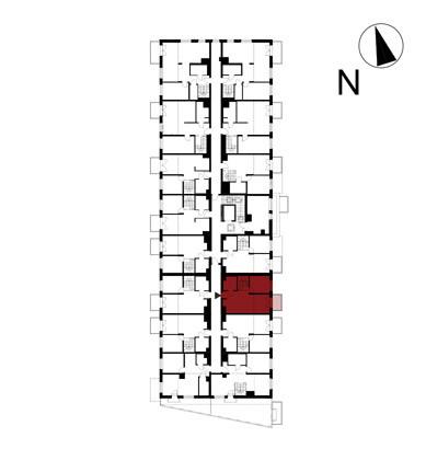 Wojszyckie Alejki / budynek 1 / mieszkanie 49/M2 rzut 2