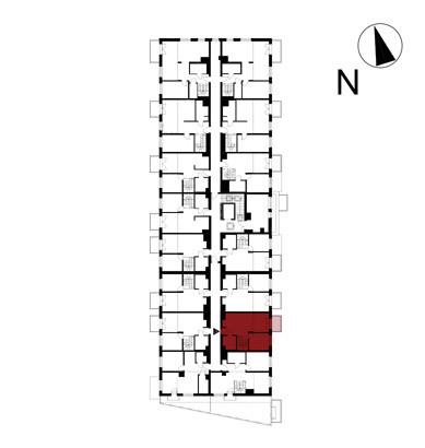 Wojszyckie Alejki / budynek 1 / mieszkanie 50/M2 rzut 2