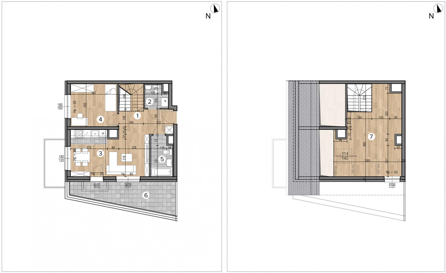 Wojszyckie Alejki / budynek 1 / mieszkanie 52/M2 rzut 1