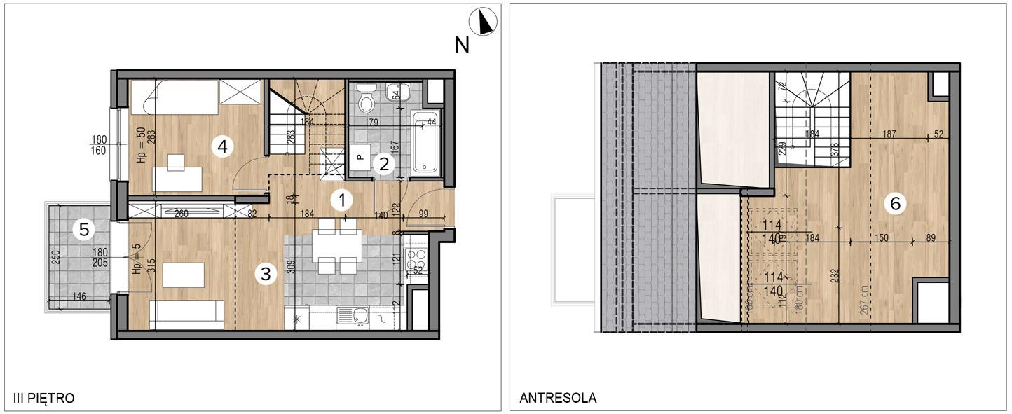 Wojszyckie Alejki / budynek 1 / mieszkanie 54/M2 rzut 1