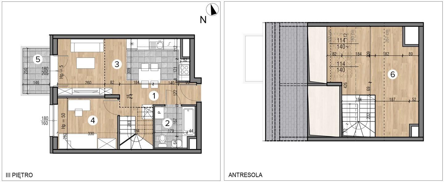 Wojszyckie Alejki / budynek 1 / mieszkanie 55/M2 rzut 1