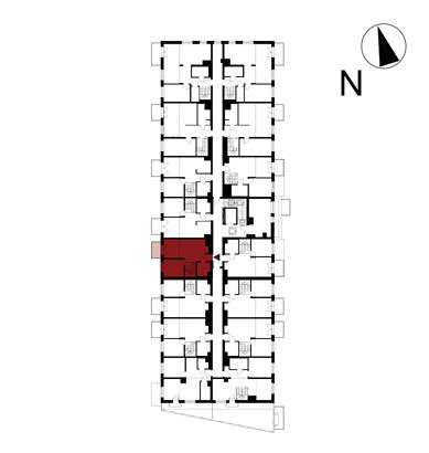 Wojszyckie Alejki / budynek 1 / mieszkanie 55/M2 rzut 2