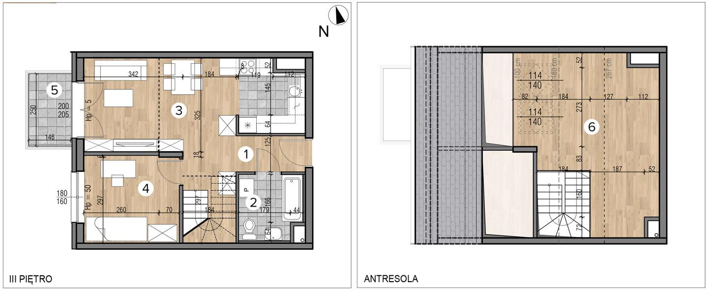 Wojszyckie Alejki / budynek 1 / mieszkanie 57/M2 rzut 1