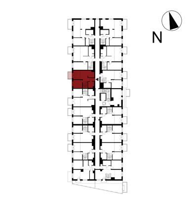 Wojszyckie Alejki / budynek 1 / mieszkanie 57/M2 rzut 2