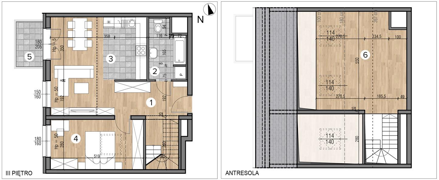 Wojszyckie Alejki / budynek 1 / mieszkanie 58/M2 rzut 1