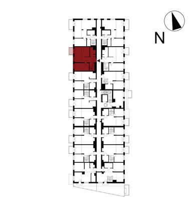 Wojszyckie Alejki / budynek 1 / mieszkanie 58/M2 rzut 2