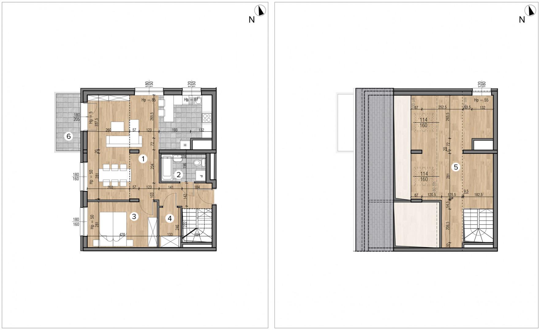 Wojszyckie Alejki / budynek 1 / mieszkanie 59/M2 rzut 1