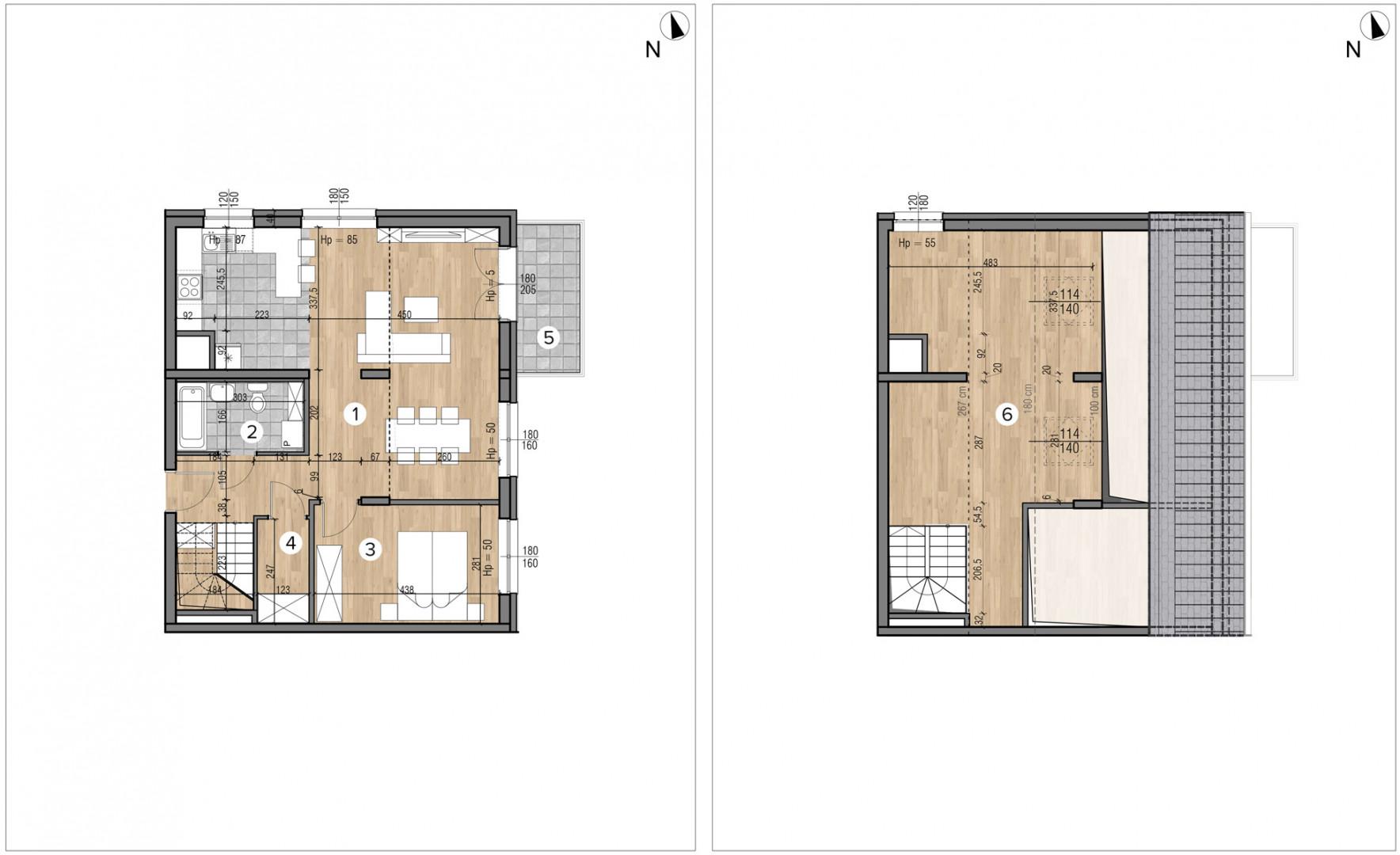 Wojszyckie Alejki / budynek 1 / mieszkanie 60/M2 rzut 1