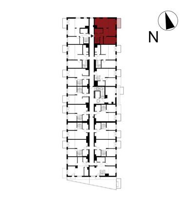 Wojszyckie Alejki / budynek 1 / mieszkanie 60/M2 rzut 2