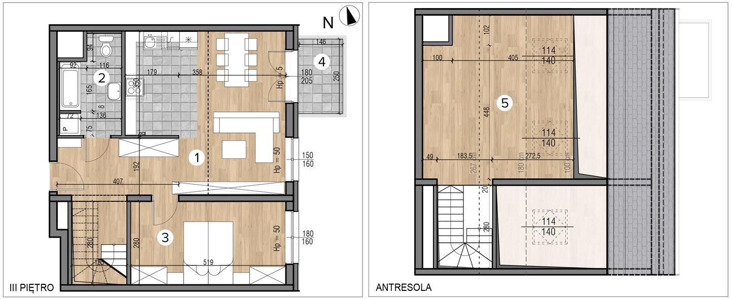 Wojszyckie Alejki / budynek 1 / mieszkanie 61/M2 rzut 1